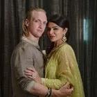 Aashka Goradia with her husband