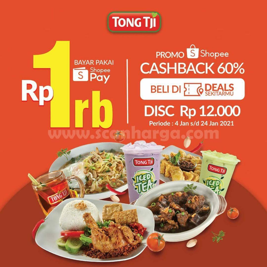 TONG TJI Promo Voucher Deals - CASHBACK 60% Dengan ShopeePay