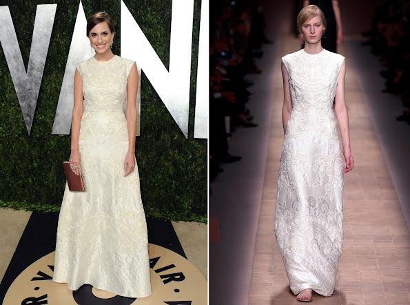 Allison Willams wears Valentino gown - 2013 Vanity Fair Oscar Party