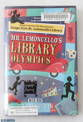 Mr. Lemoncello's Library Olympics gets 4.5 out of 5 Stars in my book review of the sequel to Mr. Lemoncello's Library.  It was a fun story full of book references and puzzles; it's a perfect book for the book worm or competitor in your life.  Boys and girls alike will enjoy this book. Middle grade fiction, juvenile lit, 4th through 7th grade. Relatable, fast, fun read. Alohamora Open a Book www.alohamoraopenabook.blogspot.com