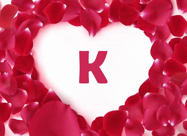 حرف k في قلب
