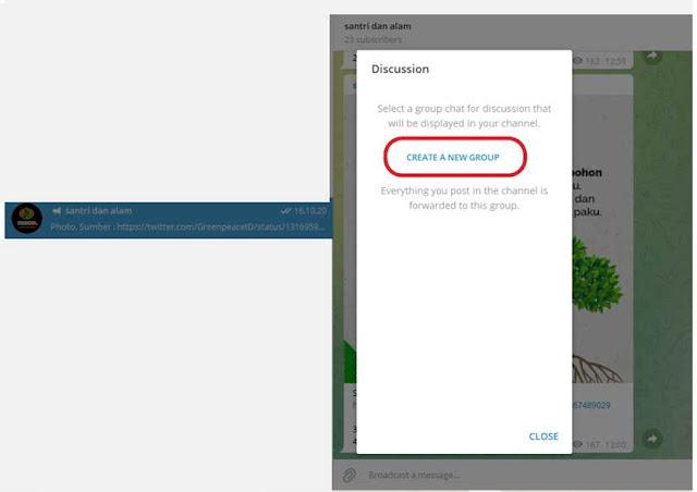 cara mengaktifkan fitur komentar di telegram