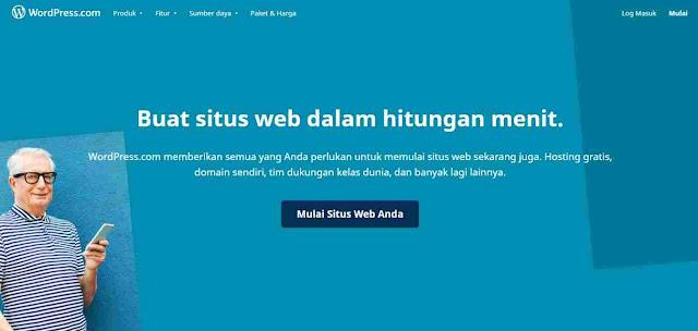 Wordpress Penyedia website gratis terbaik