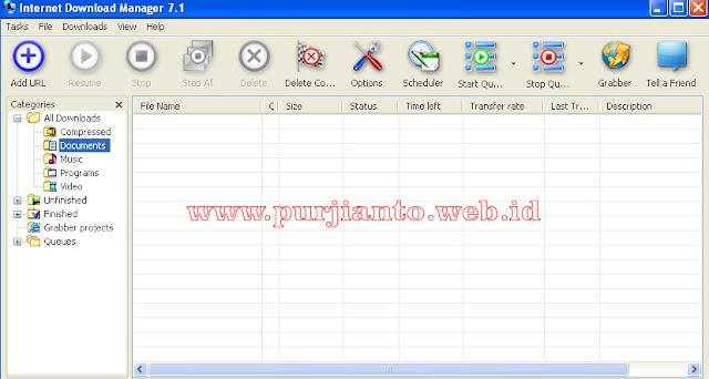 Mempercepat download dengan IDM