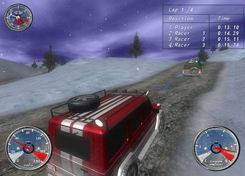 لعبة السيارات Winter Extreme Racers