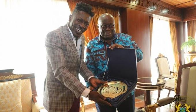 Photos: Shatta Wale visits Nana Addo at Flagstaff House