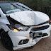 Condutor perde o controle de direção e carro derruba muro da residência do blogueiro na rua Nova no centro de são João Batista