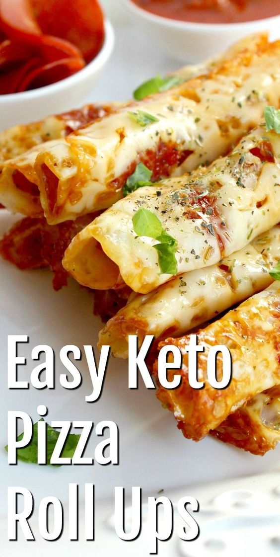 THE BEST KETO PIZZA ROLL UPS