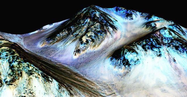 Imagem feita pela sonda Mars Reconnaissance Orbiter - NASA