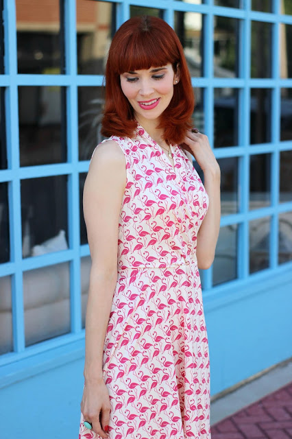 Ruby Dress in Pink Flamingos from KarinaDresses.com