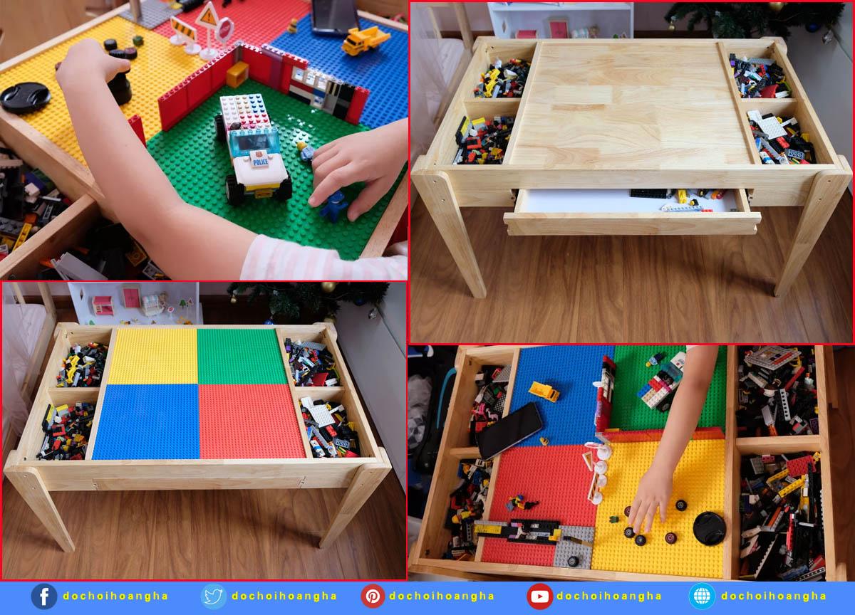 Bàn xếp lego đa năng cho bé