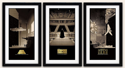 Star Wars Saga Original Trilogy Variant Screen Print Triptych by Matt Ferguson & Bottleneck Gallery