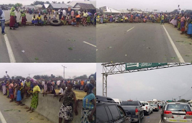 Travelers stranded as Delta women block East-West Road over r@pe by herdsmen (photos)