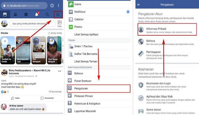 cara mengganti nama di facebook