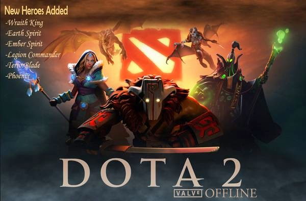 Latest dota 2 offline with mod skin full of 112 heroes (arcana and.