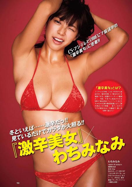 わちみなみ Wachi Minami Weekly Playboy No 52 2017 Pics