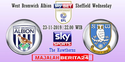 Prediksi West Bromwich Albion vs Sheffield Wednesday — 23 November 2019