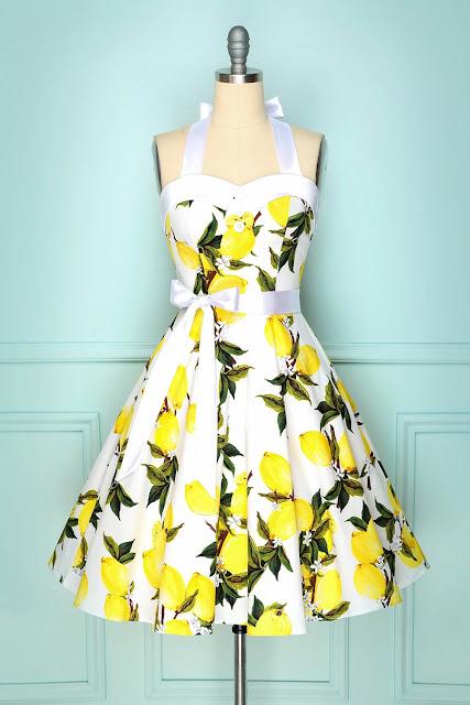 Halter Lemon Dress