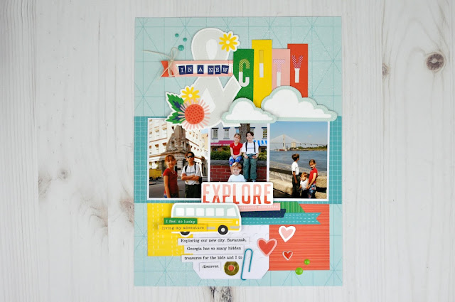 Close to My Heart Layout designed by Jen Gallacher for SCT Magazine. #CTMH #jengallacher #sctmagazine #scrapbooker