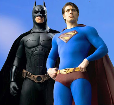 Fan Made Superman (Brandon Routh) si Batman (Christian Bale)