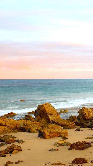 Wallpaper for beach, sand, stones, sea