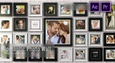 Projects – VideoHive – Romantic Photo Wall – 28520442 [AEP, MOGRT]