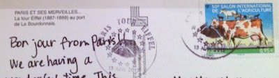 Special Eiffel Tower Postmark 2013