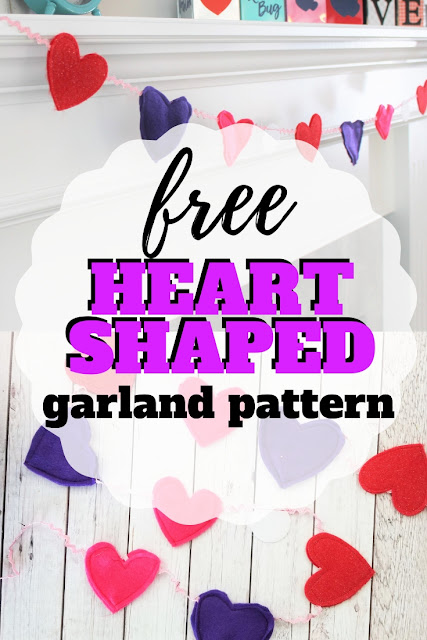 Create your own felt heart garland for Valentine decor with this free sewing project.