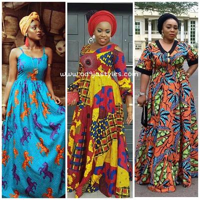 #Ankarastyles : Best Ankara Maxi Styles For Beautiful Ladies