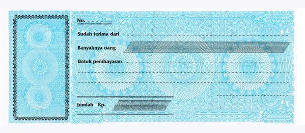 Kuitansi Kosong untuk dokumen jual beli mobil