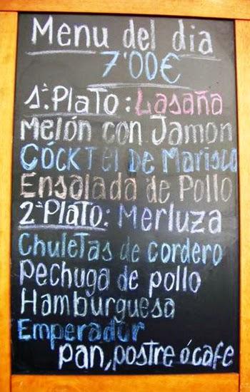 Como economizar nas refeições na Espanha