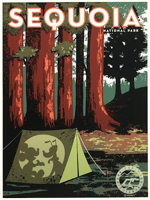 "Disney ""Sequoia Travel Poster"" Screen Print by Bret Iwan x Cyclops Print Works"