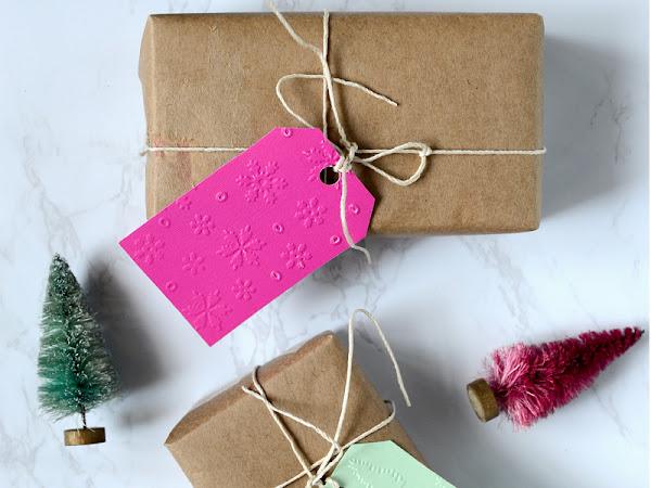 How to Emboss Christmas Gift Tags