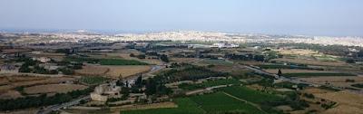 Vistas de Malta desde Bastion Square, en Mdina.
