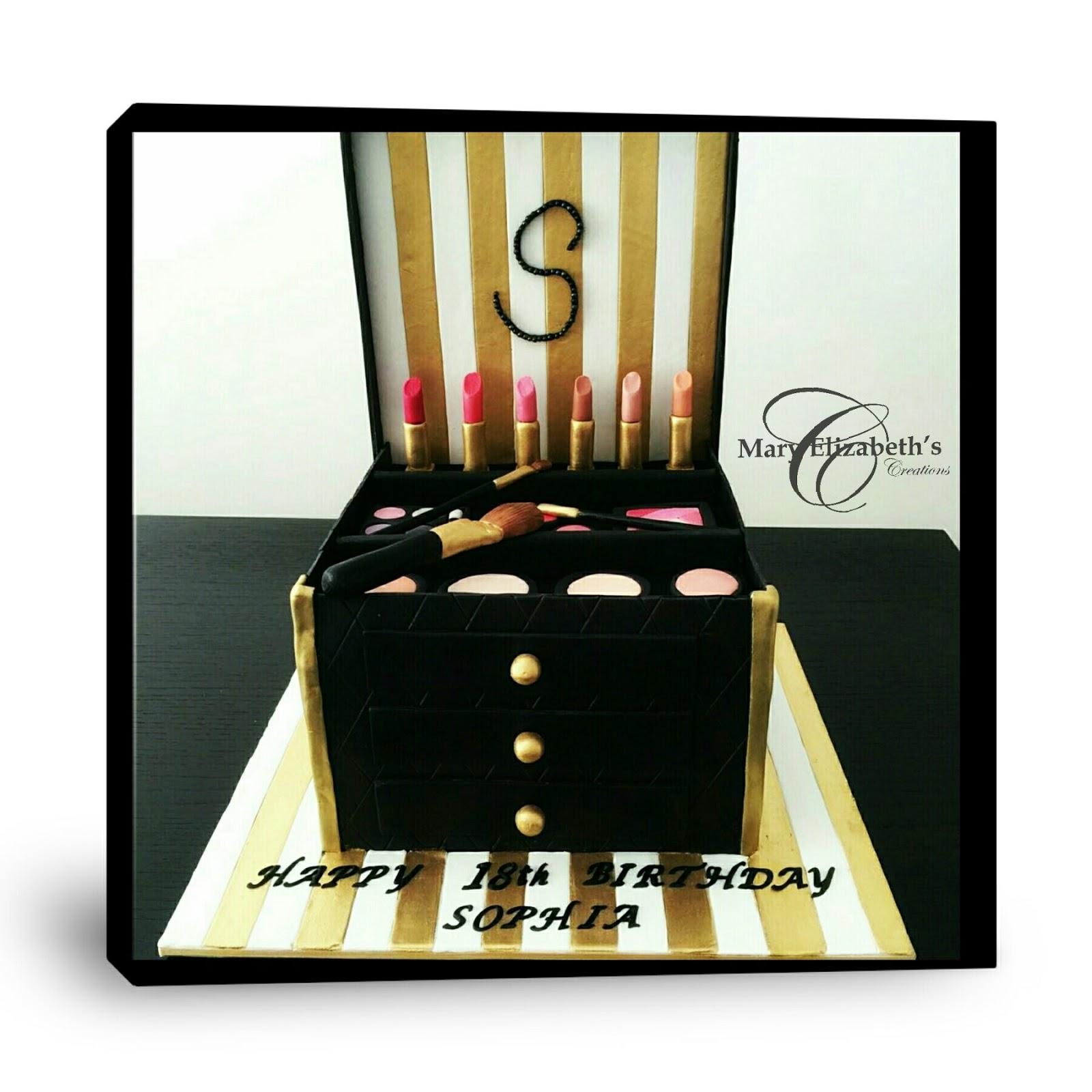 Mary Elizabeths Creations Makeup ArtistMakeup Train Cake