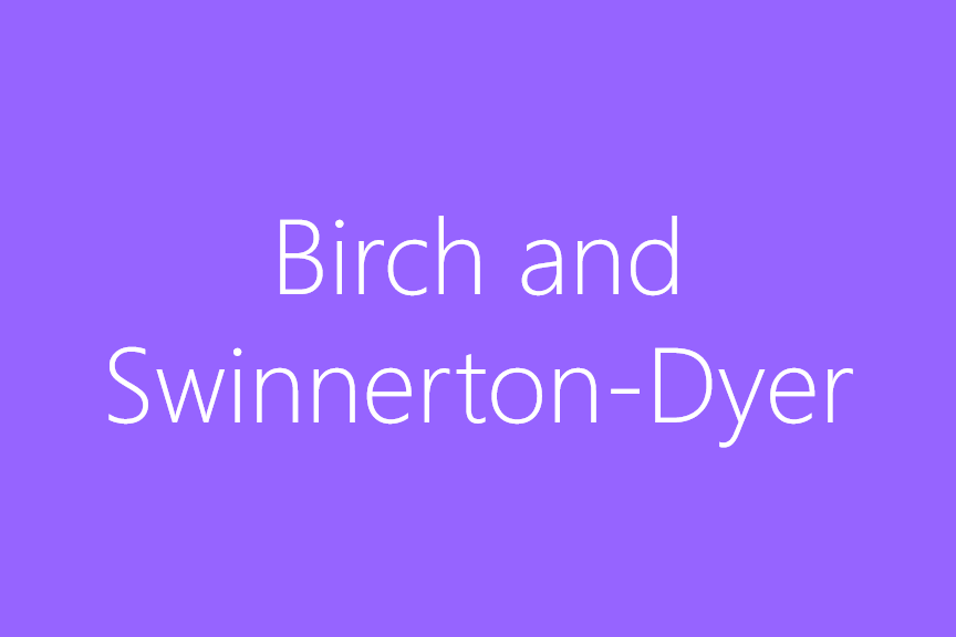 Birch-Swinnerton