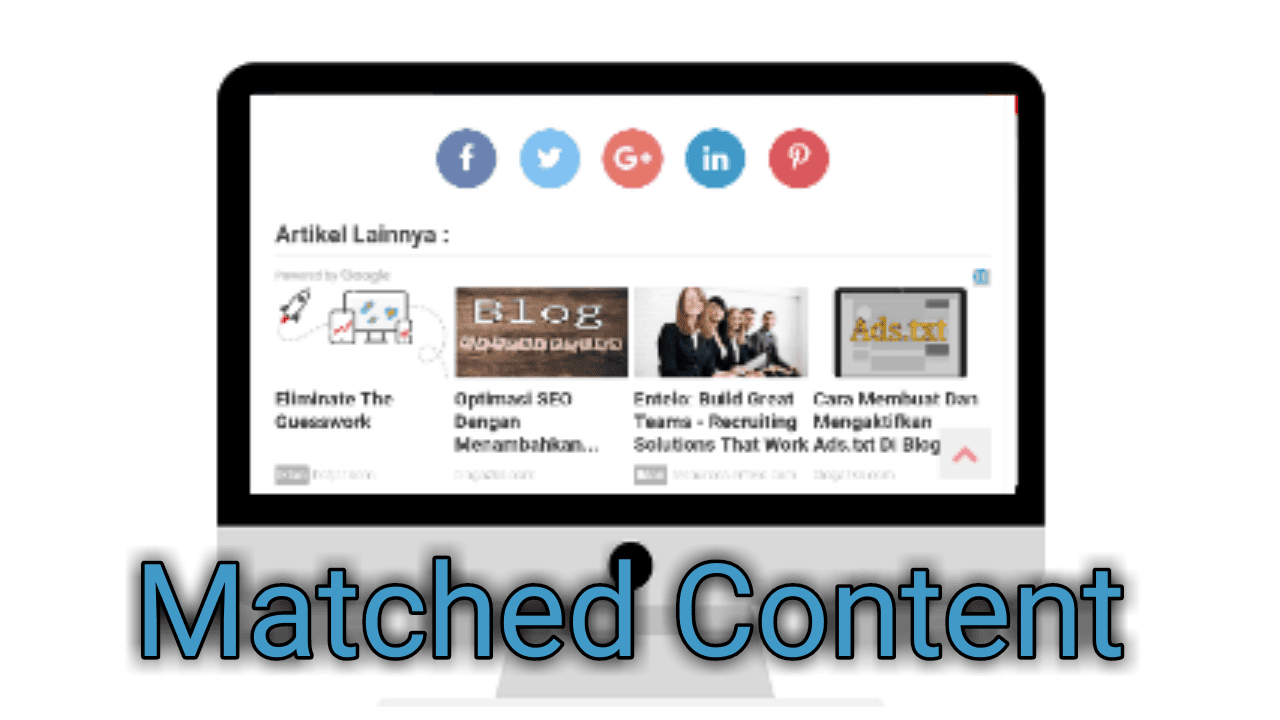memasang matched content yang sesuai