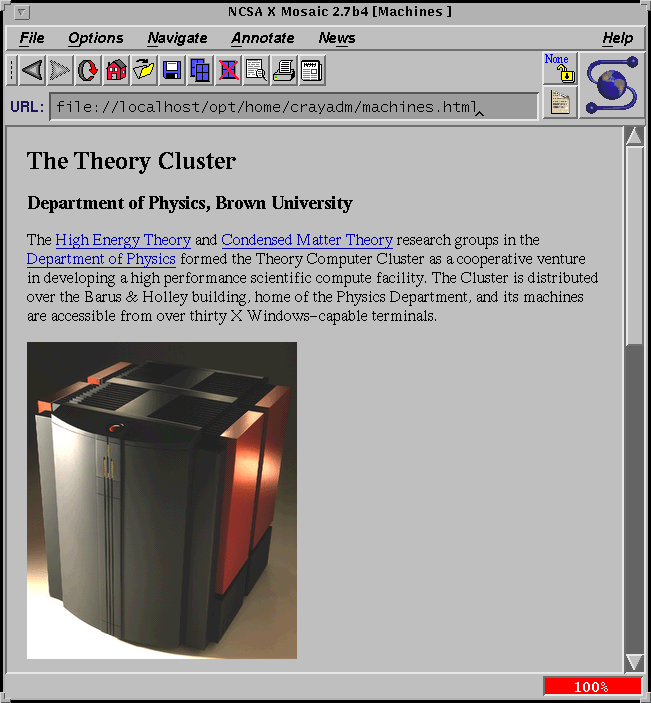 The Theory Cluster website