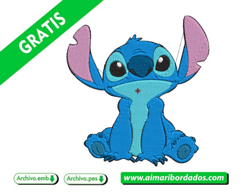 Disney Stitch Logo para bordar a máquina DESCARGA GRATIS