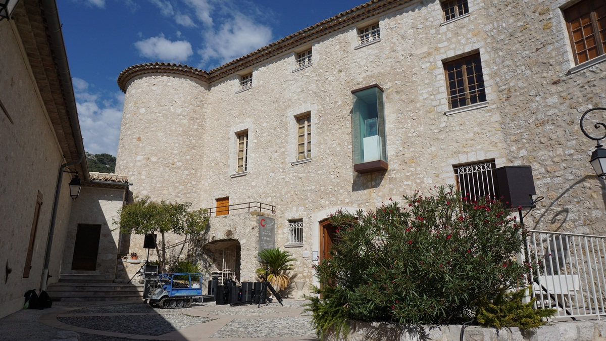 Restored castle of Carros Village
