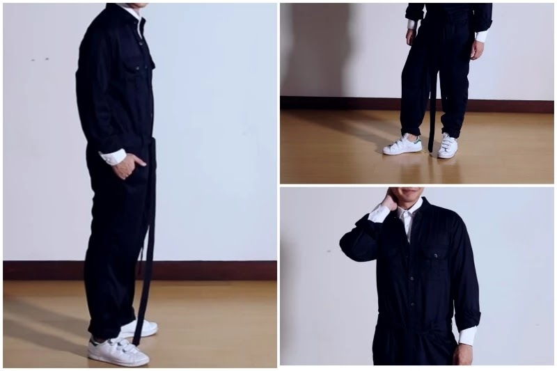 With shirts Style men's jumpsuit.