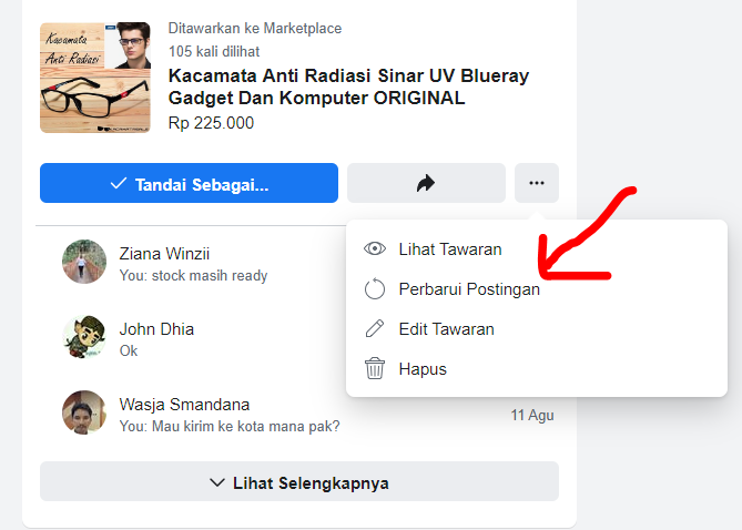 cara jualan laris di facebook marketplace