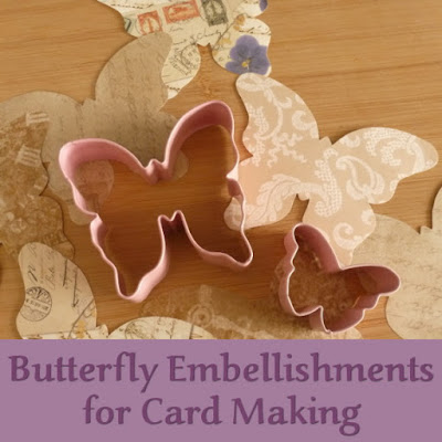 butterfly embellishments for papercrafts