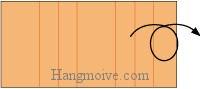 Bước 8: Lật mặt sau tờ giấy sang đằng trước.