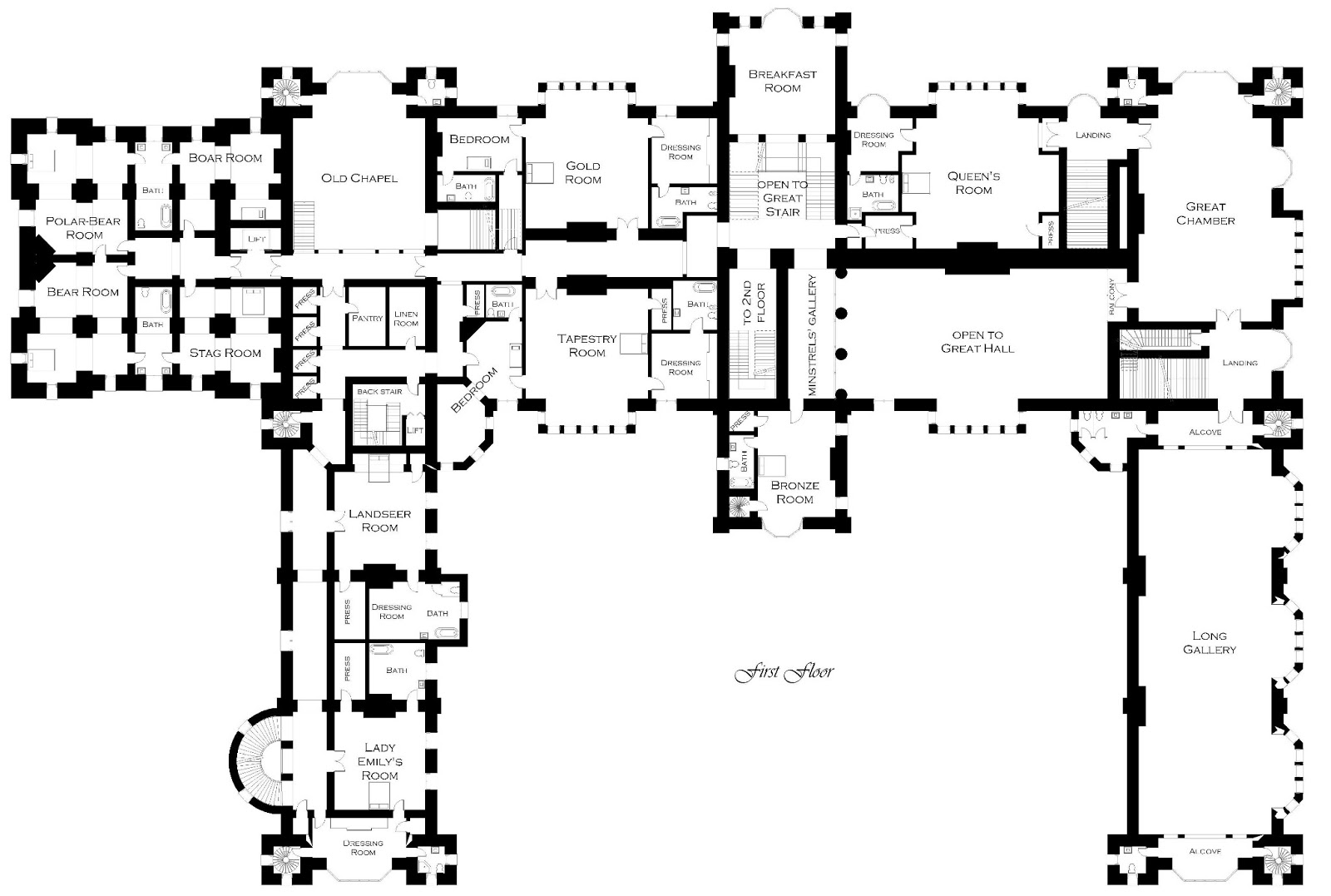 Architectural Floor Plan Symbols moreover House Floor Plans 3 Bedroom 2 Bath 1 Story besides Victorian Mansion Floor Plans as well School Gym Floor Plan moreover Plan Of The Week 17 M 2685 A Merlot. on hip room home plans