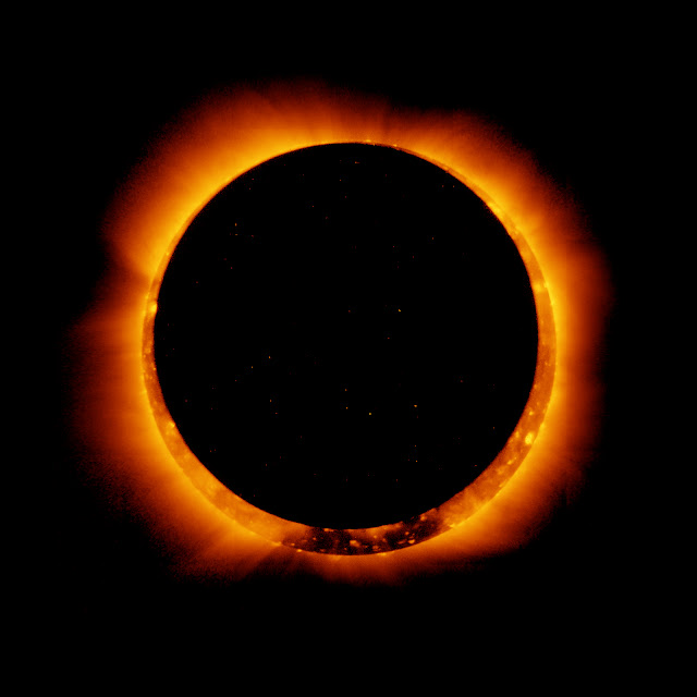 Picture of a solar eclipe