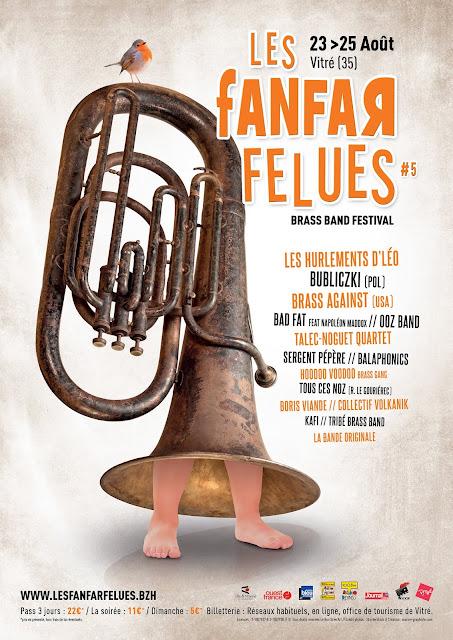 La fanfare KAFI sera au festival Les Fanfarfelues de Vitré (Bretagne, Ile et Vilaine))