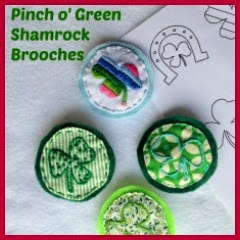 BROCHES BORDADOS SAN PATRICIO