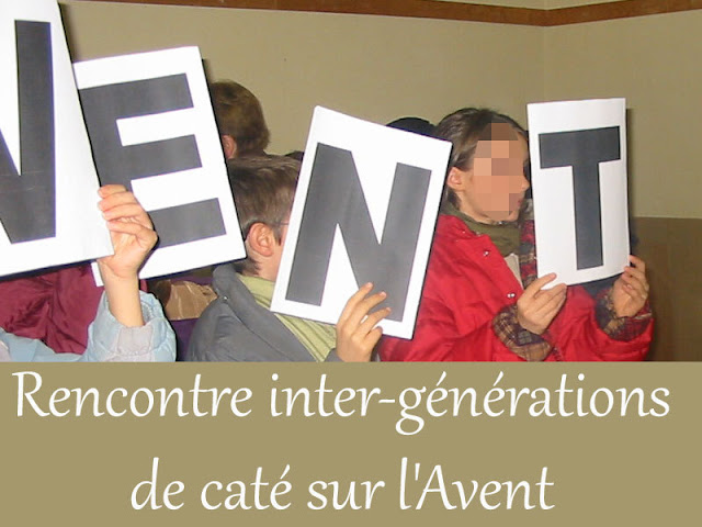 Rencontre inter-générations de caté sur l'Avent